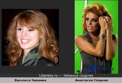Праправнучка Чапаева Василиса похожа на Настю Стоцкую.