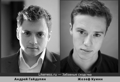 Андрей Гайдулян похож на Жозефа Куинн