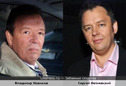 Сергей Нетиевский похож на Владимира Новикова