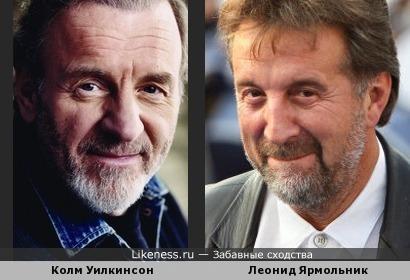 Леонид Ярмольник похож на Колма Уилкинсона