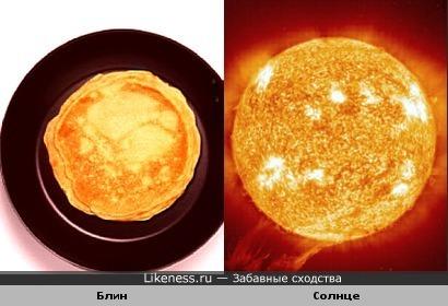 Весеннее: блин - символ Солнца