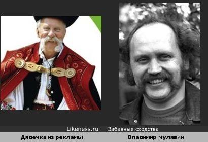 Дядька из рекламы банка напомнил Владимира Мулявина