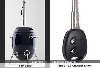 Современный самовар похож на автомобильный ключ