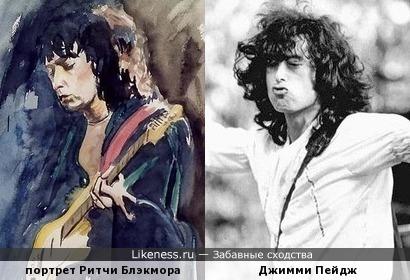 Великий гитарист на портрете напомнил другого великого гитариста