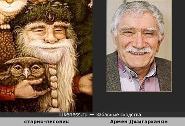 Старик-лесовик на картине напомнил Армена Джигарханяна