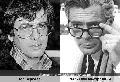 Пол Верховен и Марчелло Мастроянни