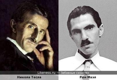 """Никола Тесла и музыкант группы """"Sparks"""