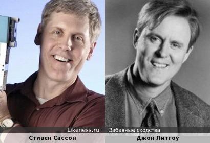 Создатель первого цифрового фотоаппарата Стивен Сассон и актёр Джон Литгоу