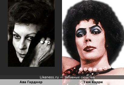 Ава Гарднер на этом фото напомнила Тима Карри в образе