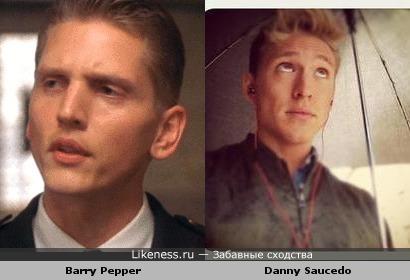 Barry Pepper похож на Danny Saucedo