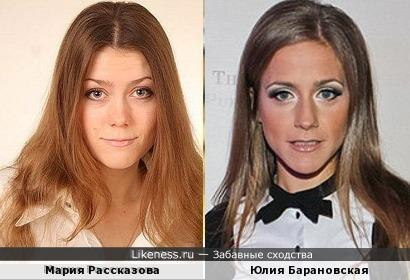 Мария Рассказова и Юлия Барановская