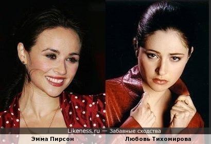 актриса очень похожа на тихомирову достаточно