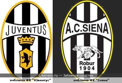 Emblema Fk Siena Pohozha Na Staruyu Emblemu Fk Yuventus Zabavnye Shodstva