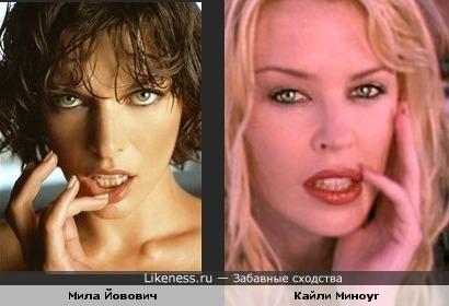 Российская актриса похожая на миллу йовович